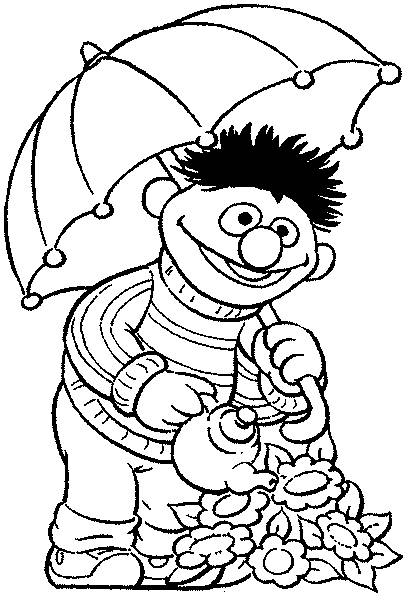 Coloring pages bert and ernie - picture 18
