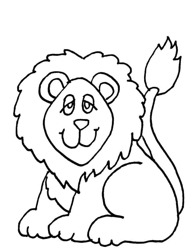 coloring pages cats lions tigers picture 30