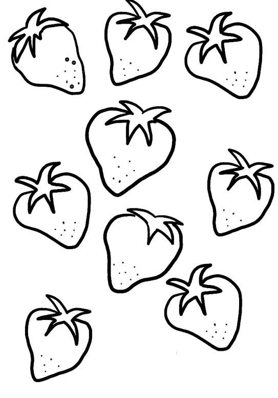 Fruit And Vegetable Coloring Pages - Futpal.com