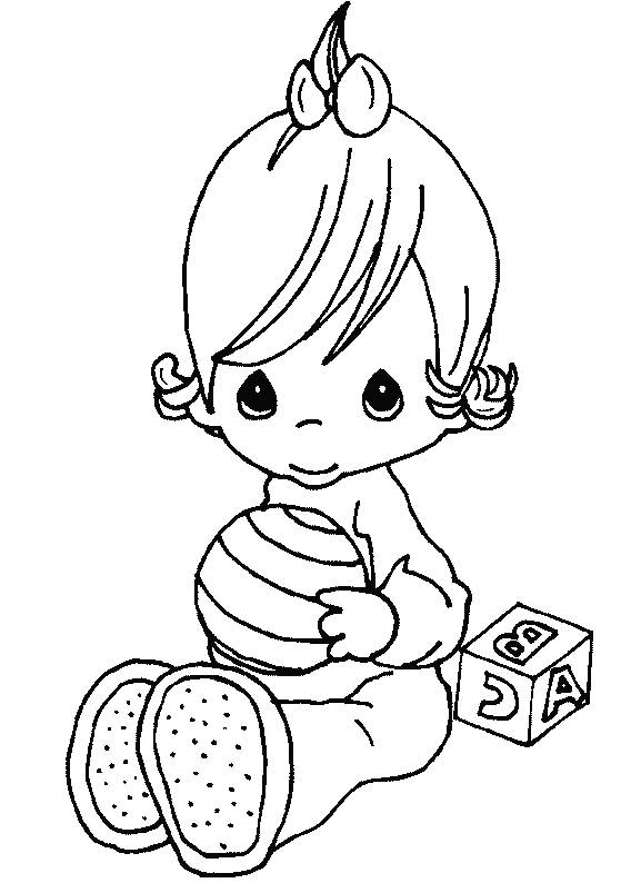 precious moment baby coloring pages - photo #20